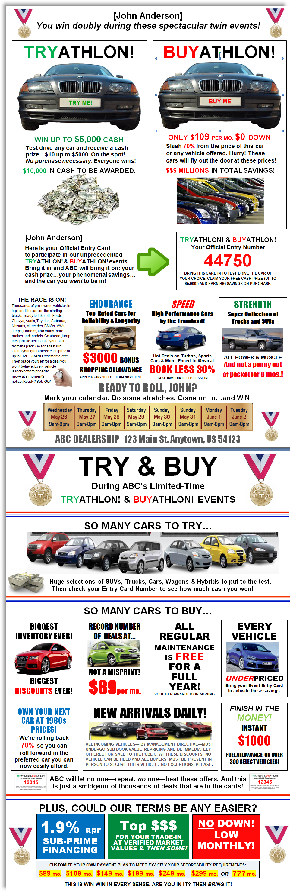 Car Sale Flyer - Unitedijawstates.com