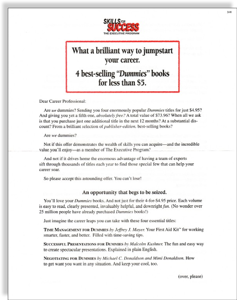 dummies-book-club-sales-letter