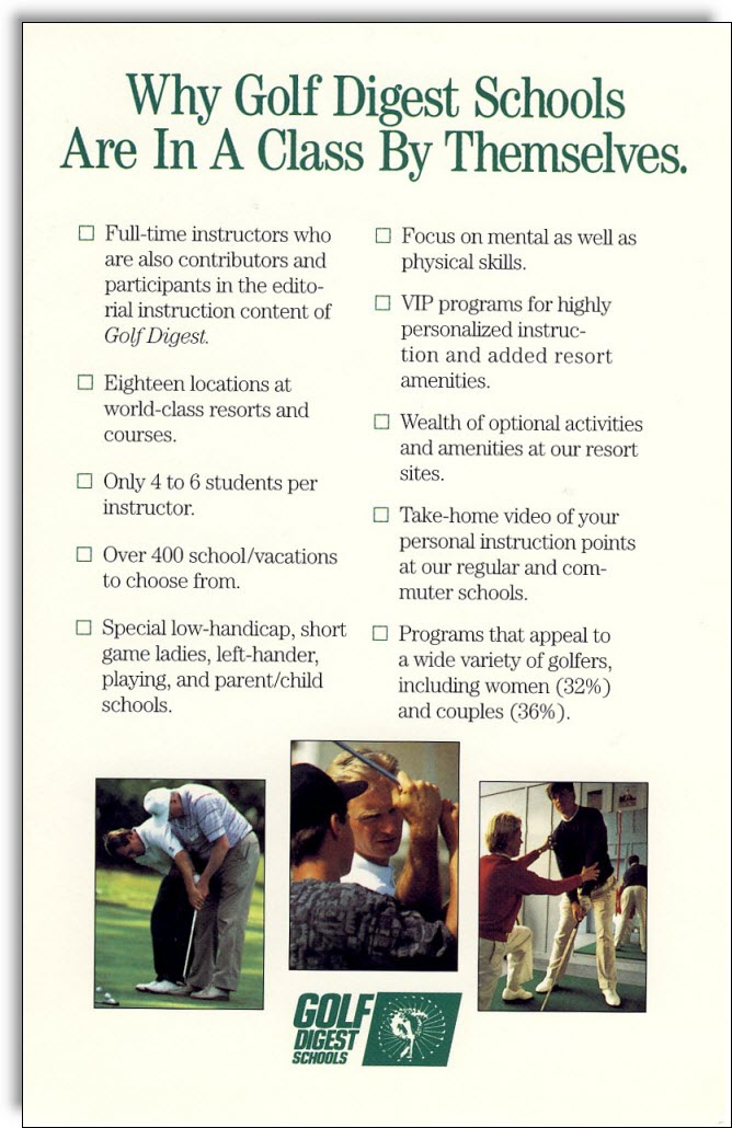 golf-digest-schools-direct-mail-brochure