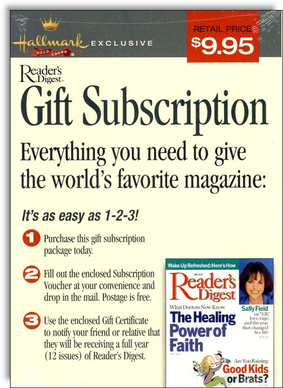 subscribe give a gift - photo #24