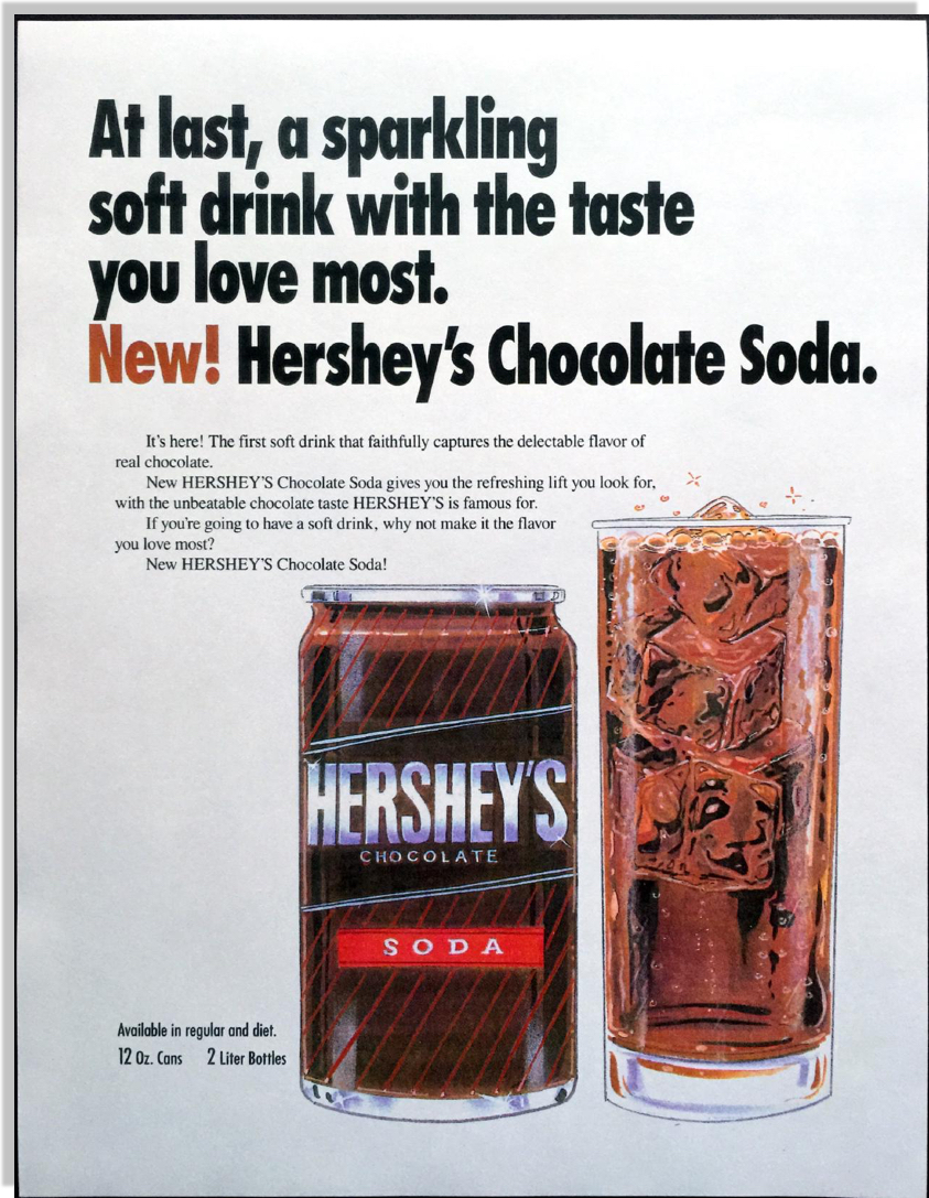 Hershey's Chocolate Soda Campaign - Jerry McTigue - Copywriter