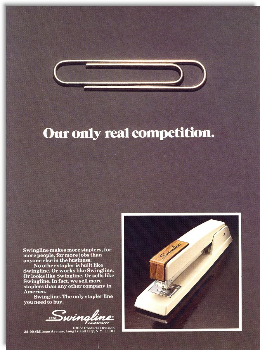 Swingline Stapler Ad
